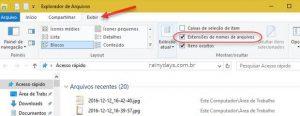 Como exibir extensões de arquivos no Windows