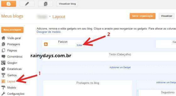 Como Colocar Favicon no Blogger e WordPress.com 2