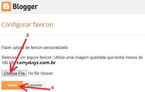 Como Colocar Favicon no Blogger e WordPress.com 3