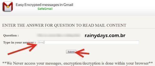 Enviar Email Criptografado pelo Gmail 2