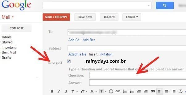 Enviar Email Criptografado pelo Gmail