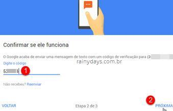 Ativar verificação em duas etapas no Google 6
