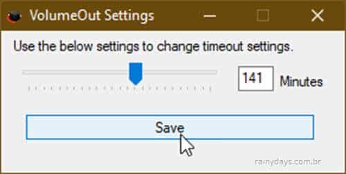 Como diminuir volume do computador gradativamente com o tempo