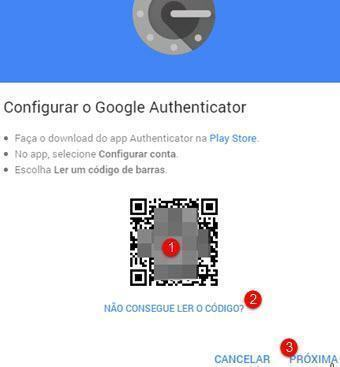 Habilitando Authy no Google