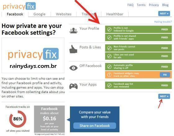 Privacyfix Configura Sua Privacidade na Web 1