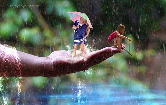 É melhor correr na chuva ou caminhar?