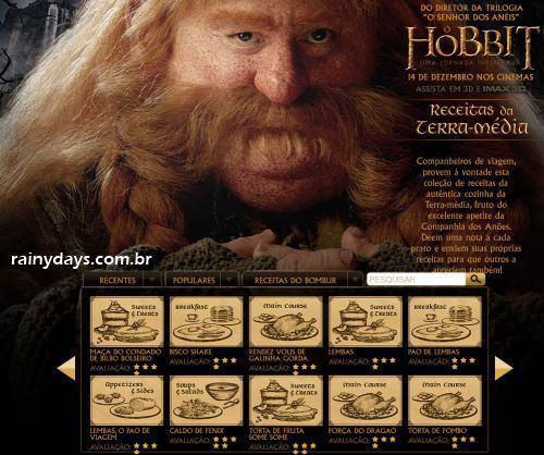 Receitas do Filme Hobbit para Fazer em Casa
