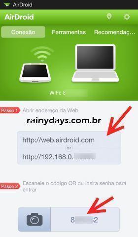 AirDroid para Gerenciar Android pelo Navegador 2