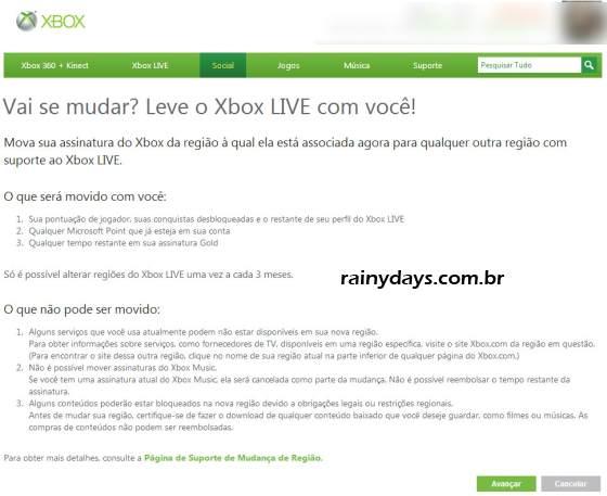 Como Mudar Região do Xbox Live