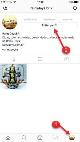 Editar perfil aplicativo Instagram