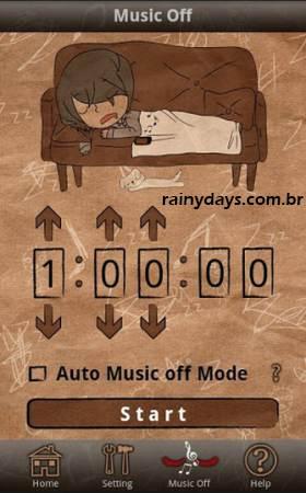 Fazer Smartphone Desligar a Música Quando Dormimos