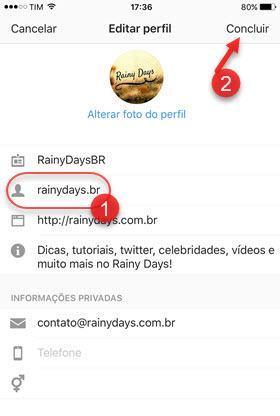mudar nome de usuário do Instagram pelo app
