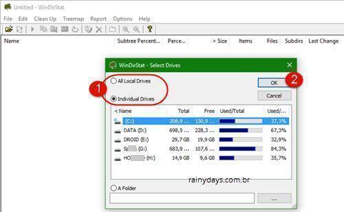 Analisador de Espaço no HD para Windows 2