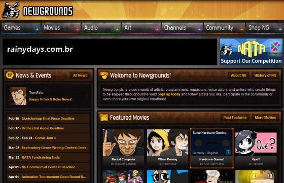 Como Cancelar Conta do Newgrounds