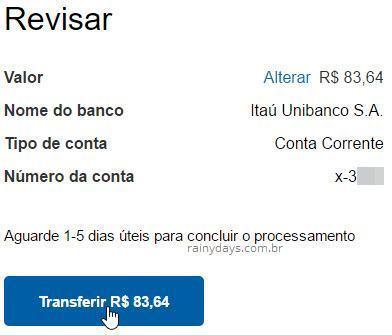 transferir dinheiro do PayPal para conta bancária 3
