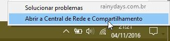 Abrir Central de Rede e Compartilhamento do Windows