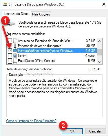 Como apagar pasta Windows old após upgrade Windows
