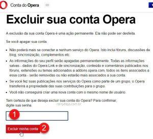 Como cancelar conta do Opera