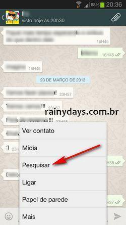 Como Fazer Busca no WhatsApp do Android 2