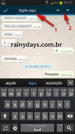 Como Fazer Busca no WhatsApp do Android 3