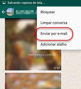 Enviar por email conversa whatsapp Android