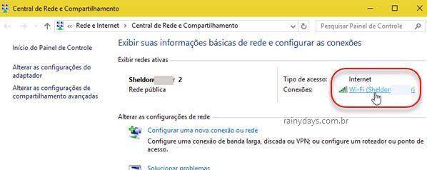 exibir redes ativas do Windows