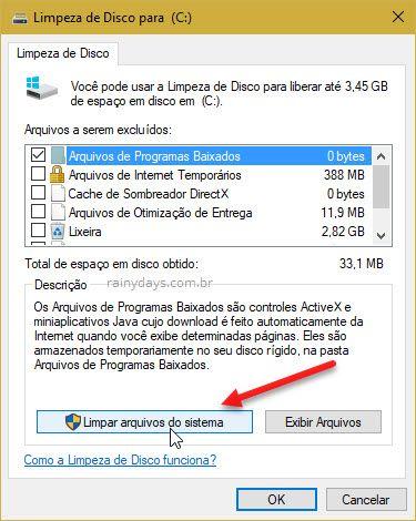 Limpar arquivos do sistema no Windows