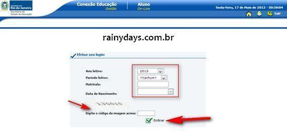 Boletim Online RJ SEEDUC