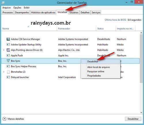 Desabilitar Programas Que Iniciam com Windows 8 (2)