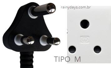 Tipos de plugues e tomadas tipo M