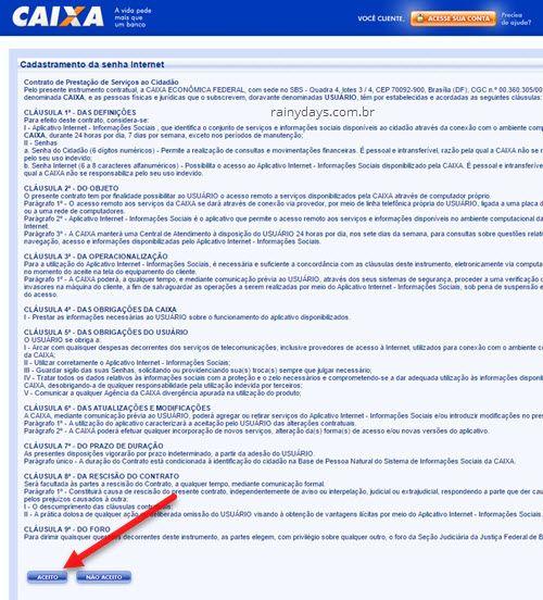 aceito termos cadastro senha internet caixa benefícios