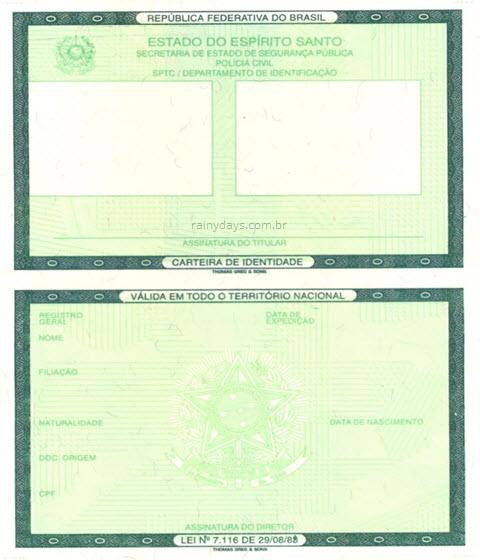 Modelo carteira de identidade, perda de documentos o que fazer