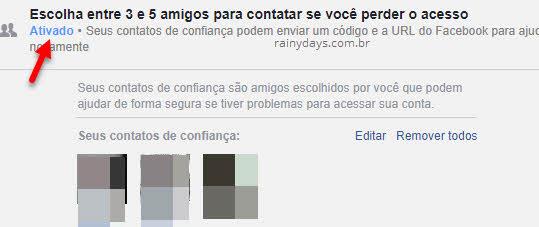 Recuperar conta do Facebook com ajuda de amigos