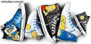Tênis Converse dos Simpsons (Chuck Taylor All Star Collection)