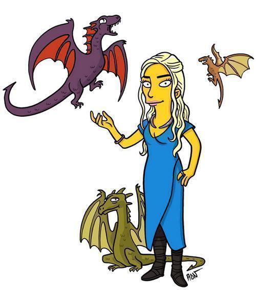 Daenerys Targaryen Game of Thrones Simpsonizados