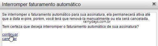 Como cancelar renovação automática Kaspersky 3