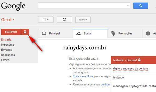 Criptografar Emails do Gmail com SecureGmail