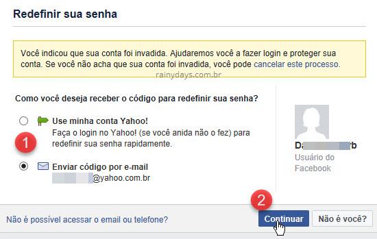 Denunciar Facebook hackeado recuperar conta hackeada
