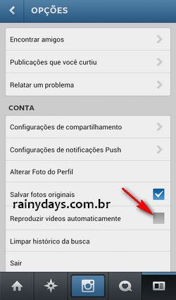 Desativar Reprodução Automática de Vídeos (Instagram)