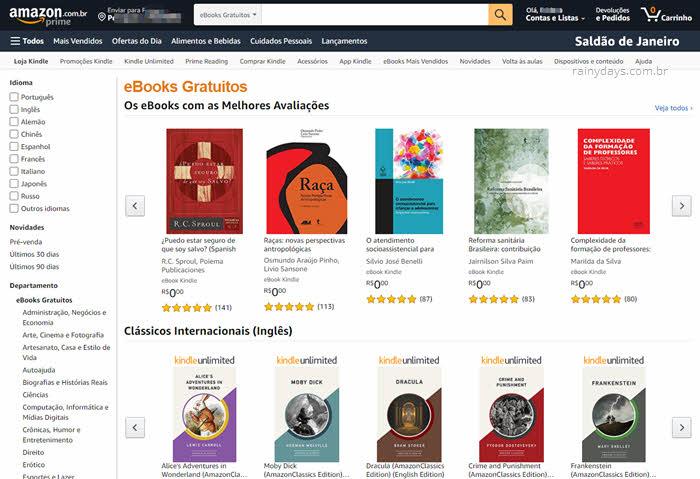 Como fazer download de ebooks grátis na Amazon
