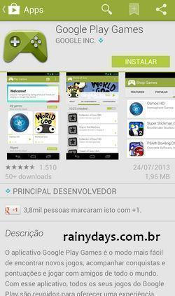 Google Play Games para Jogos do Android