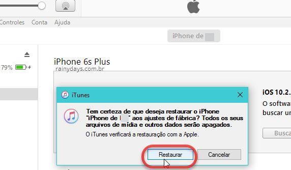 Restaurar iPhone para configurações de fábrica