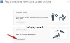 Usar Chrome para Acessar Computador à Distância