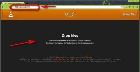 Adicionar Arquivos no VLC do iPad pelo Wi-Fi 2