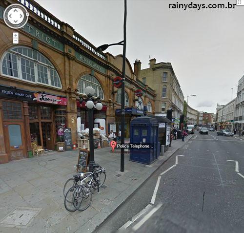 TARDIS do Doctor Who no Google Maps