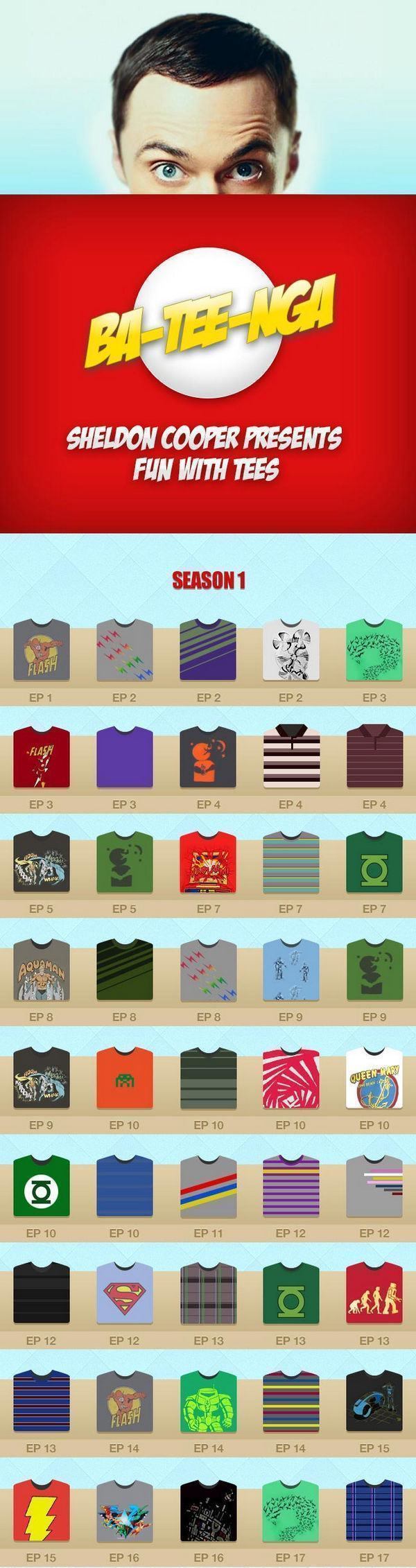 Todas as Camisetas do Sheldon Cooper