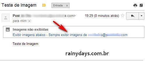 """Desativar """"Sempre exibir imagens de..."""" no Gmail"""