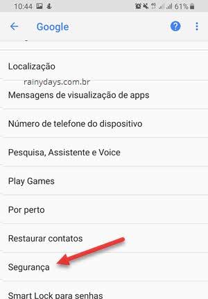Segurança Google Android