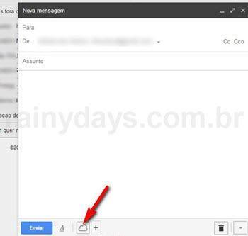 Botão no Gmail para anexar Dropbox