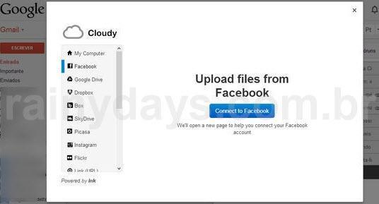 Botão no Gmail para anexar Dropbox 2